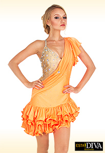 Latin Samba Dress - Albicocca