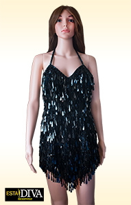 Drop Sequin Dress - Paillettes Goccia