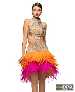 L1892 ballroom Rhythm salsa Latin samba swing dance dress custom made