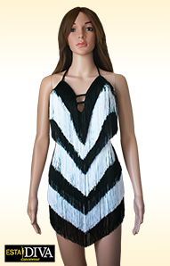 Latin Fringe Dress - Frangia Bianconera