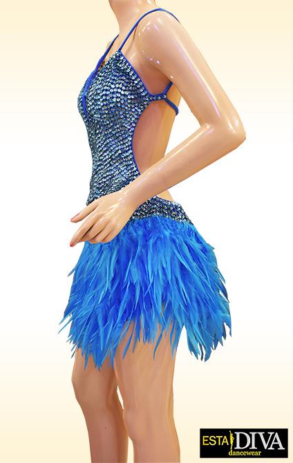 Samba Feather Dress Pluma Sky Samba Feather Dress 3