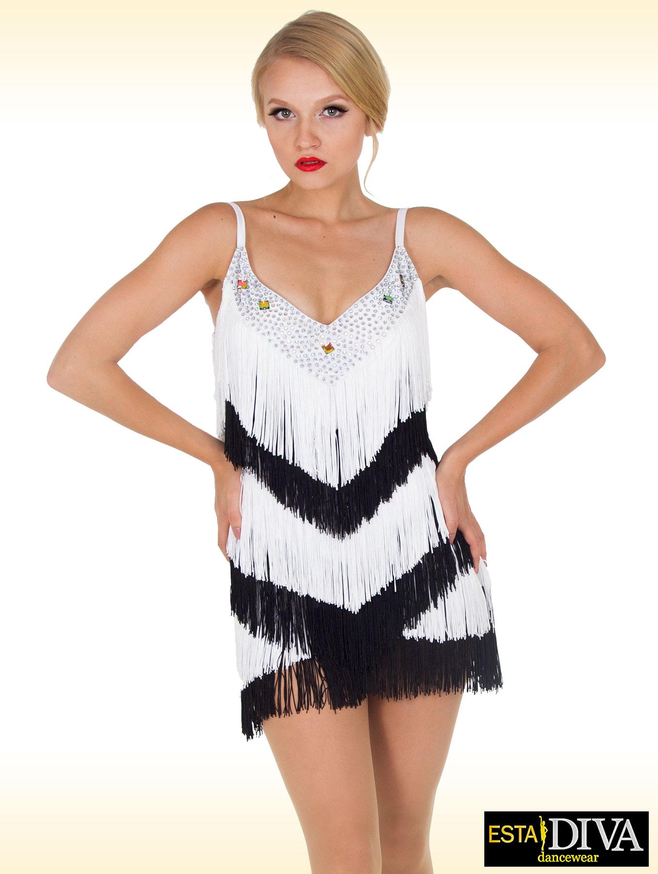 Latin Dance Dress - Bianconera [fringe-dress-43] - €242.00 ...