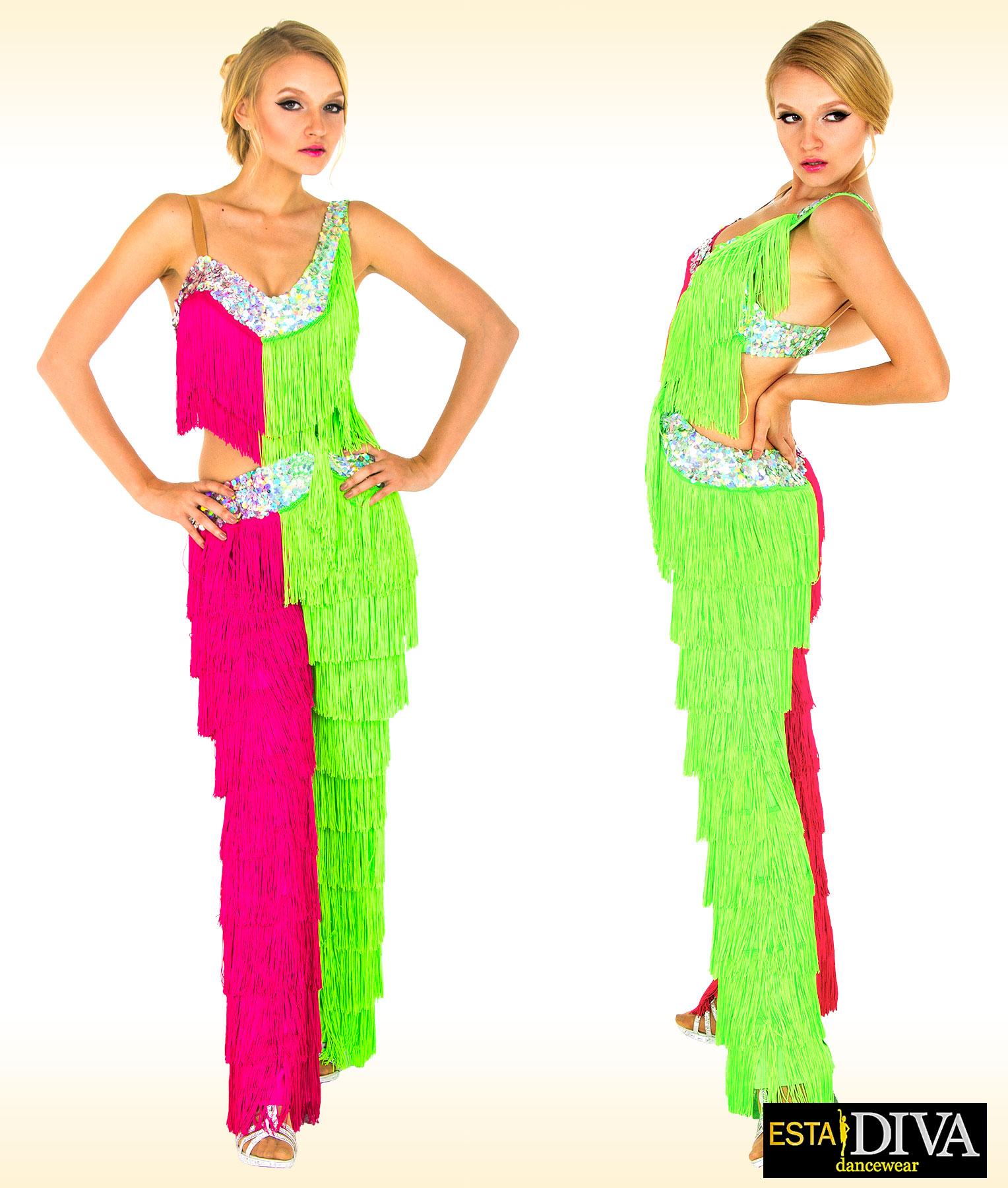 1f2ed5f50f734 Fringe Pants & Top | Fringe Pants Dance Costumes | ESTA DIVA Dancewear