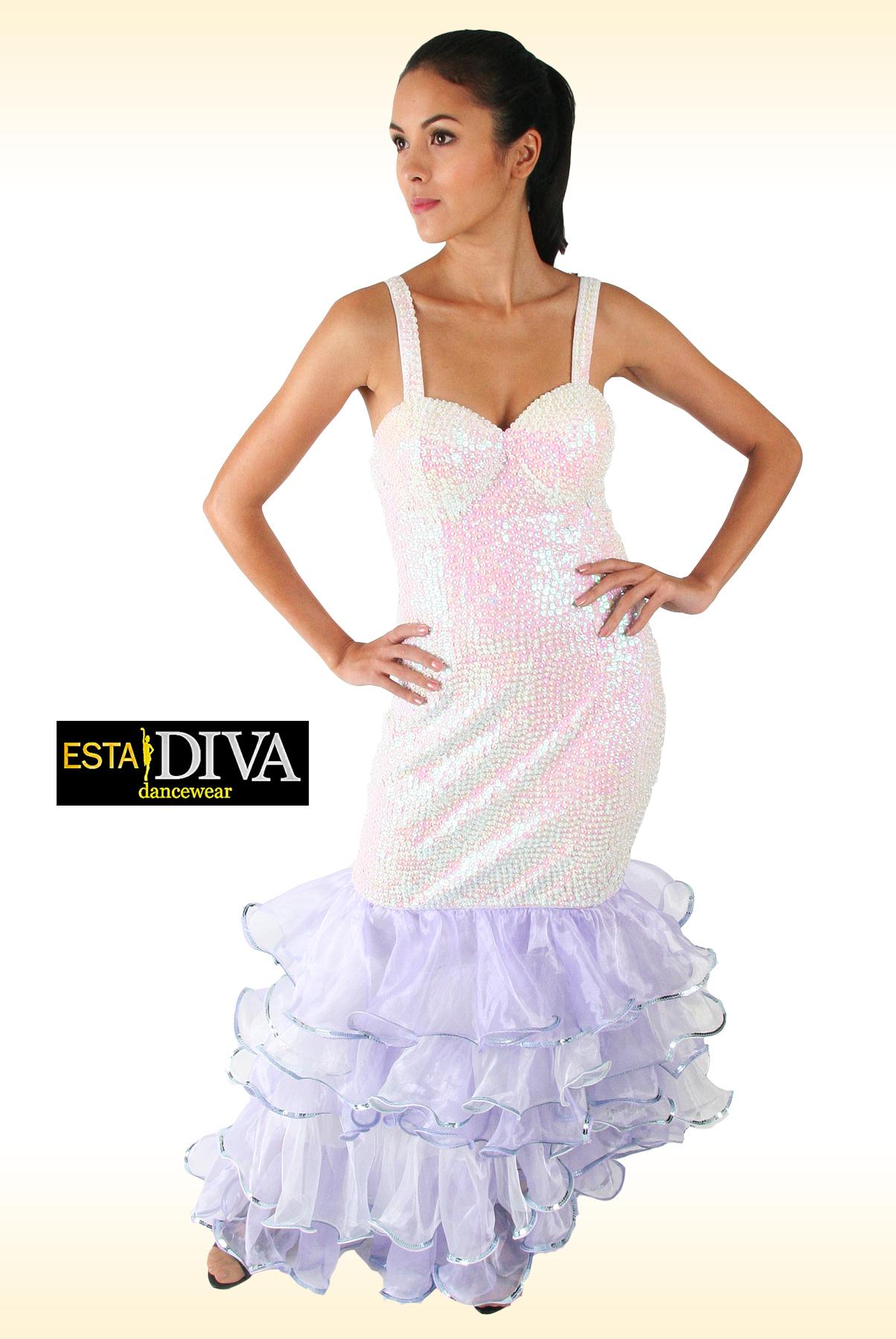 Diva dress cielo blanco sequin organza dress 3 188 for Diva attire