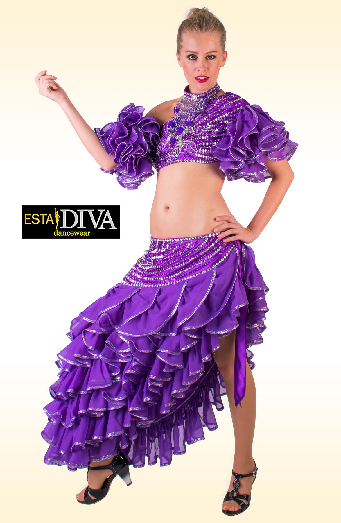 spanish dance dress traje de flamenca spanish sequin. Black Bedroom Furniture Sets. Home Design Ideas