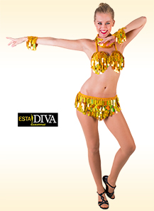 Sequin Bikini Dress - Oro Samba