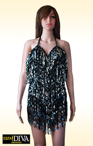 Sequin Fringe Dress - Frangia Paillettes