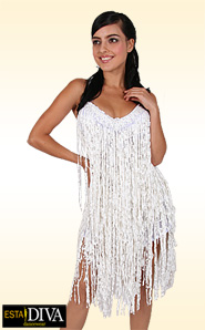 Latin Dress - Sequin Fringe Dream